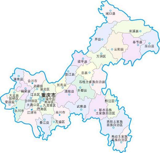 铜梁城区街道地图